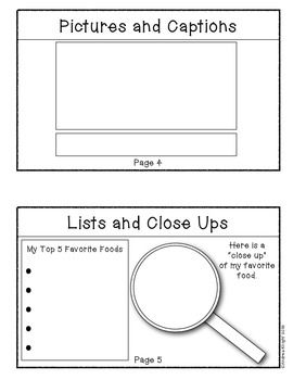 Sample student pages from:  TEACHING NONFICTION TEXT FEATURES {K-2 STUDENT BOOK} - This is a fun, and personal, way to introduce text features to primary children.  $2.50  TeachersPayTeachers.com