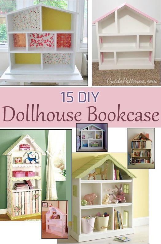 15 Ways To Build A Dollhouse Bookcase Dollhouse Bookcase