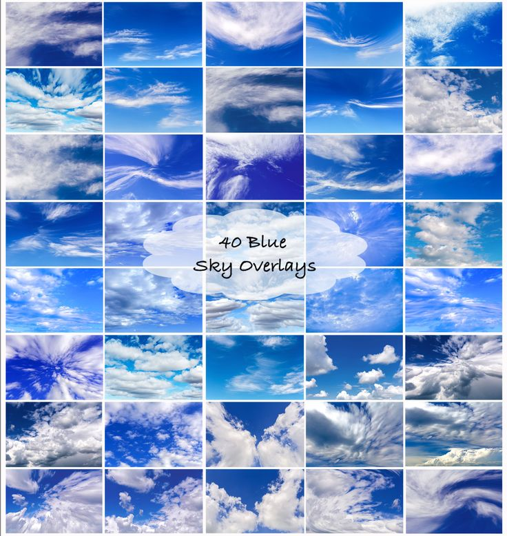 40 blue sky digital overlay sky replacements, sky overlays, sky replacements, digital skies, digital overlays, by EzDigitals on Etsy