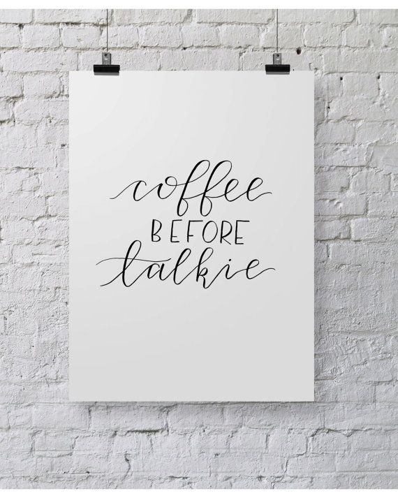 Print * keuken - coffee before talkie