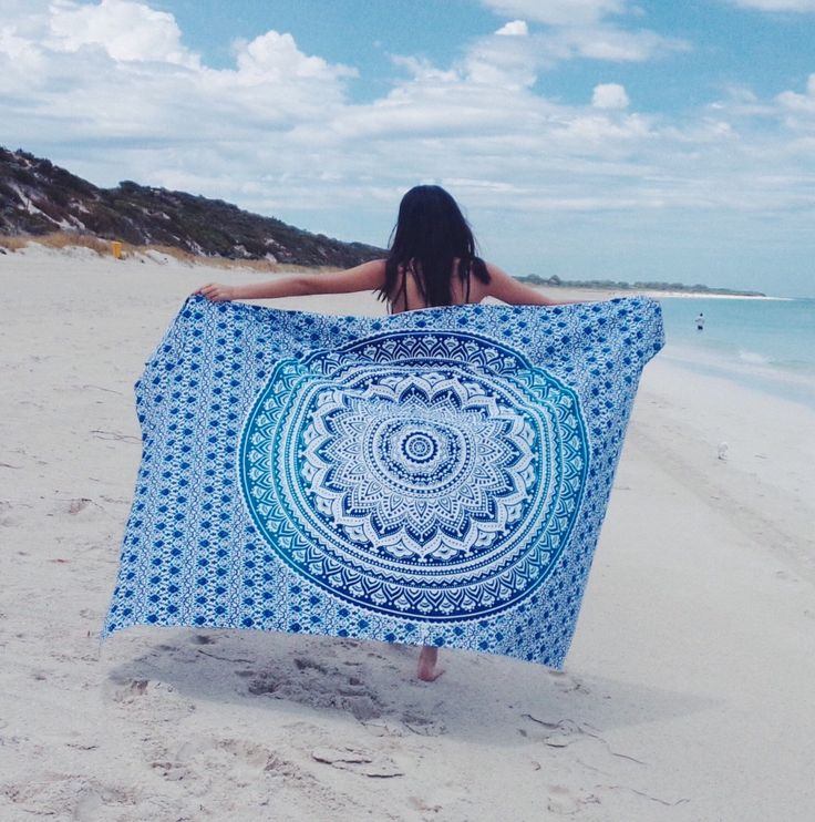 Blue ombre mandala beach throw tapestry by KOSMOtapestry on Etsy https://www.etsy.com/uk/listing/265325946/blue-ombre-mandala-beach-throw-tapestry