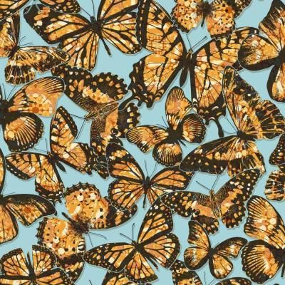 York Wallcoverings 56 sq. ft. Urban Chic Jeweled Monarch Wallpaper-RK4444 - The Home Depot