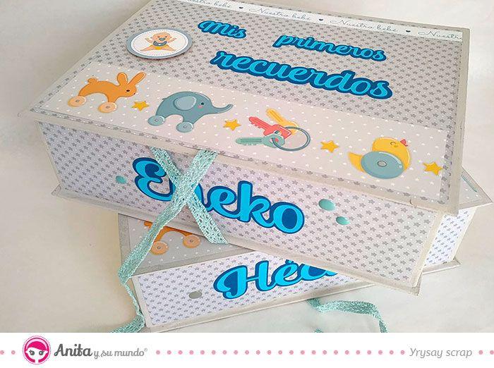 Cajas De Cartón Hechas A Mano Para Bebés Anitaysumundo Cajas Bebés Scrapbooking Regalosbebés Caja De Recuerdos Cajas Caja De Recuerdo