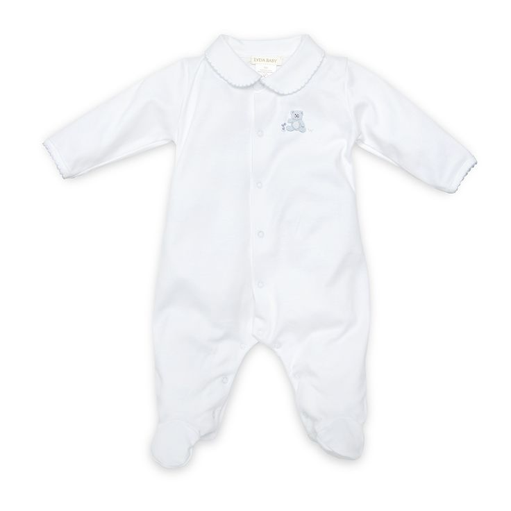 Lyda Baby Hand Embroidered Footie