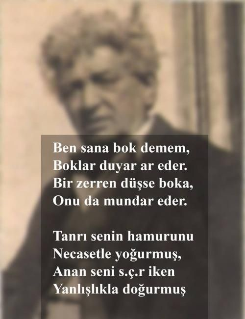 Sevda Türküsev i dinlerken nereden aklıma geldiyse Neyzen Tevfik üstad geldi... Ne alakaysa ben de anlamadım...