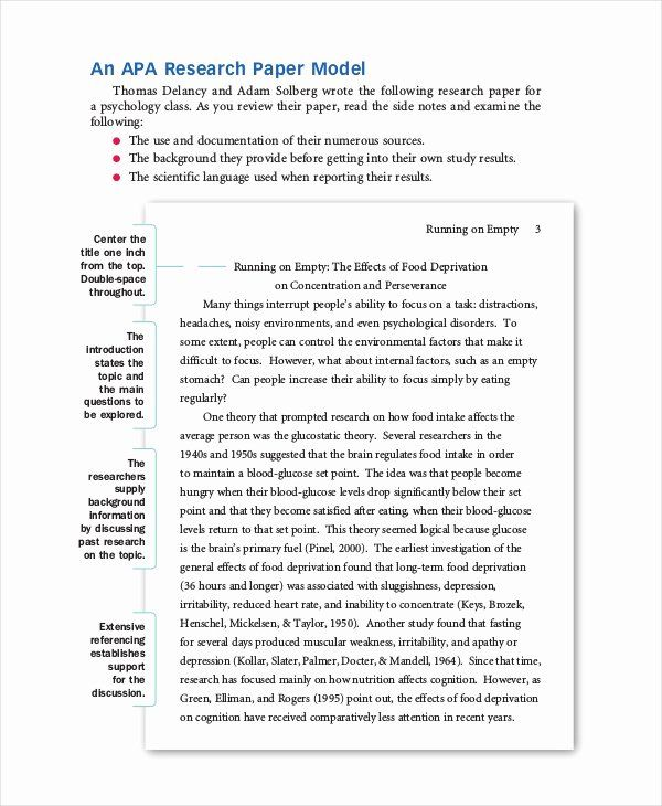 Samples Of Apa Format Best Of 8 Apa Format Examples Research Paper Outline Template Apa Research Paper Research Paper