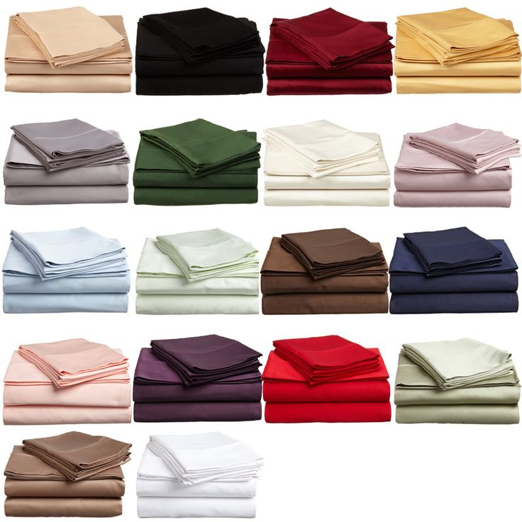 Twin XL Sheet Set Egyptian Cotton Sateen Solid 300 Thread Count for students living in dorm rooms or apartments at college or boarding school, on campus or off.