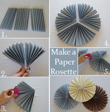 Easy paper rosette that you can add letters on to spell out a message