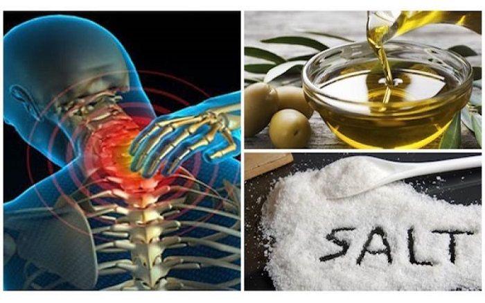 Γιατροσόφι με αλάτι και ελαιόλαδο, σας απαλλάσσει από τους πόνους εφαρμόστε το και δεν θα ξανά αισθανθείτε πόνο για τα επόμενα 5 χρόνια Η οστεοχόνδρωση μπορ
