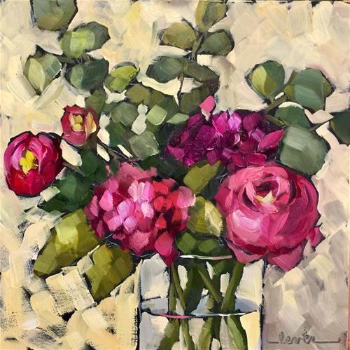 "Daily Paintworks - ""Fuchsia Friends"" - Original Fine Art for Sale - © Martha Lever"