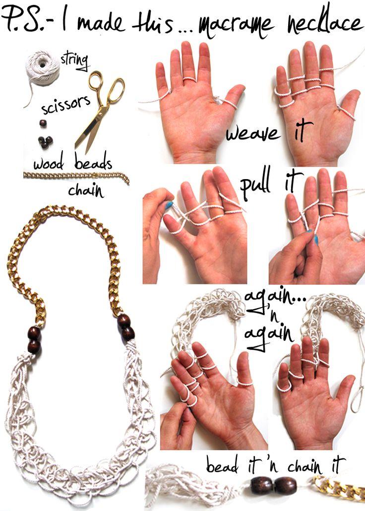 DIY-Macrame Necklace