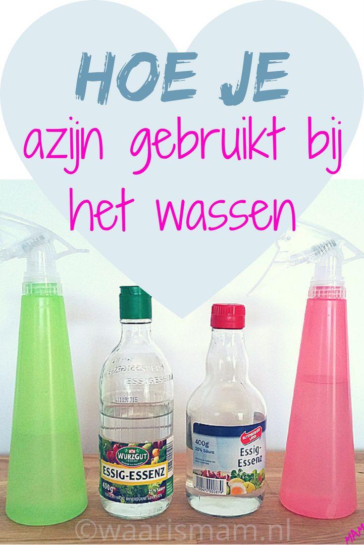 Hoe je azijn gebruikt bij het wassen