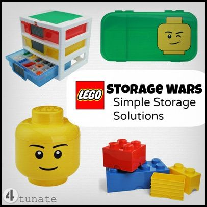 LEGO Storage Wars - 7 Simple Storage Solutions | 4tunate.net {Save your bare feet and vacuum cleaner!}