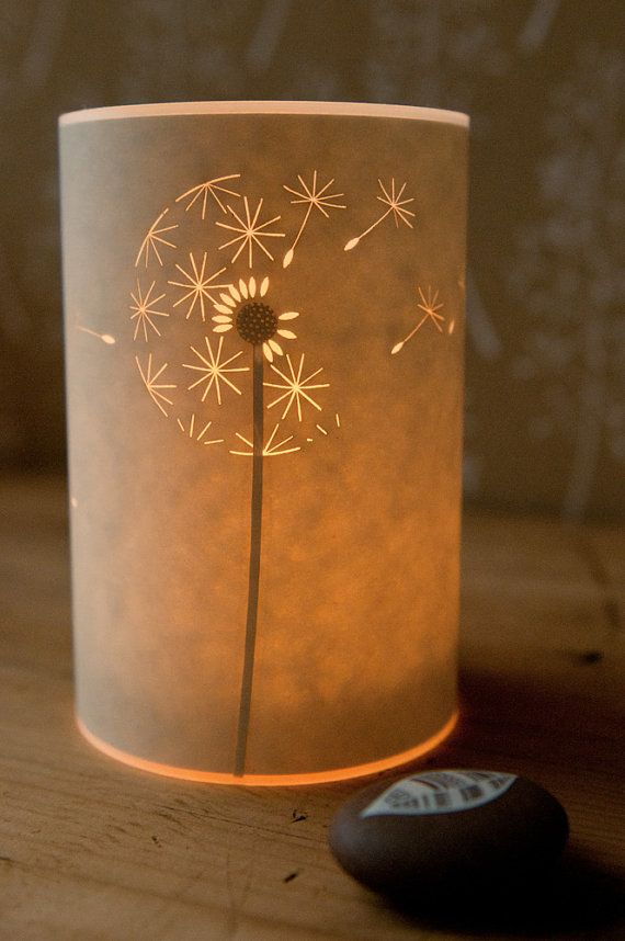 Dandelion Clock Candle Light by Hannahnunn on Etsy, £24.00