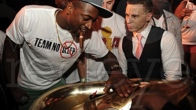 The Miami Heat Shattered The Over/Under For Their Bar Tab At Club LIV Last Night after 2012 Championship Win