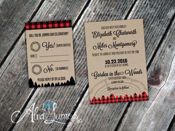 Rustic Wedding invitation Country wedding invitation by AlvaLumos More