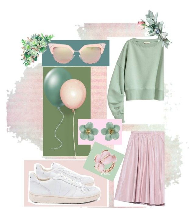 """""""Olive green and washed out pink cute outfit"""" by imcute1550 on Polyvore featuring 2NDDAY, Fendi, Veja and de Grisogono"""