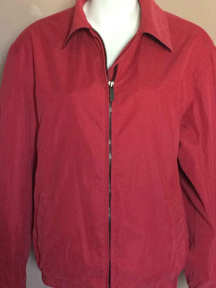 Microfiber Jacket Liz Claiborne Women Size L Red