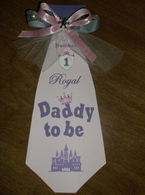 Princess Mommy and Daddy baby shower corsage by TheFlowerExperts