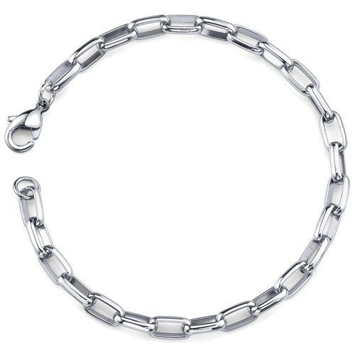 Timeless Style: Unisex Stainless Steel Unique Rectangular Link Bracelet Peora. $19.99. Save 75% Off!