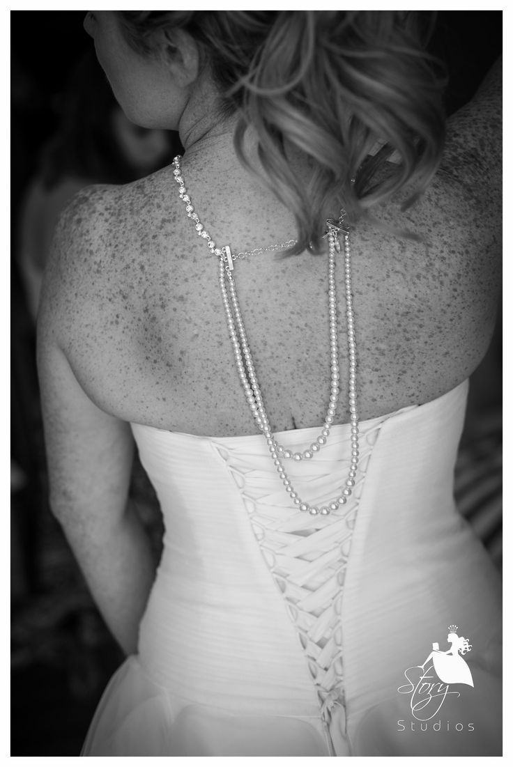 Stunning bridal necklace with an edge!