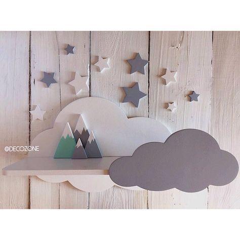 Купить Облачная полочка - полка, полка облако, полка в детскую, детская мебель, полка для игрушек