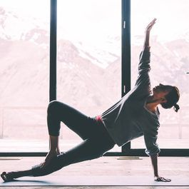 jóga, nebo pilates, žena