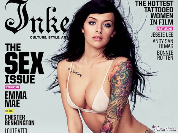Emma Mae on the cover of Inked's Sex Issue