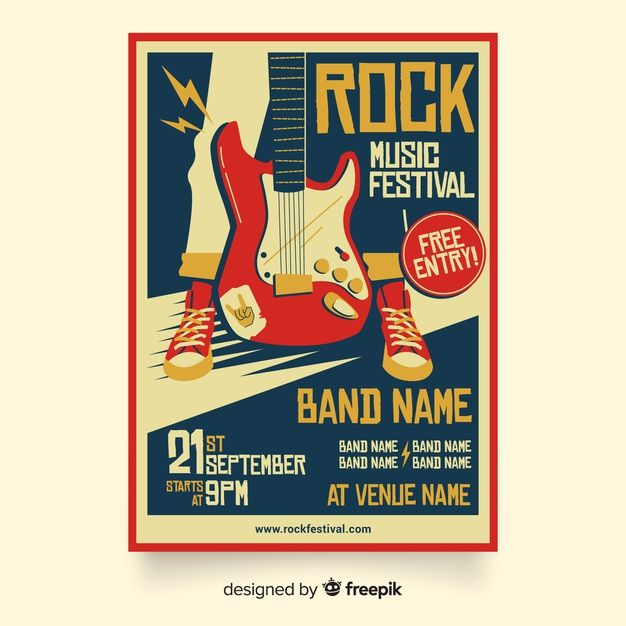 Download Retro Music Poster Template For Free