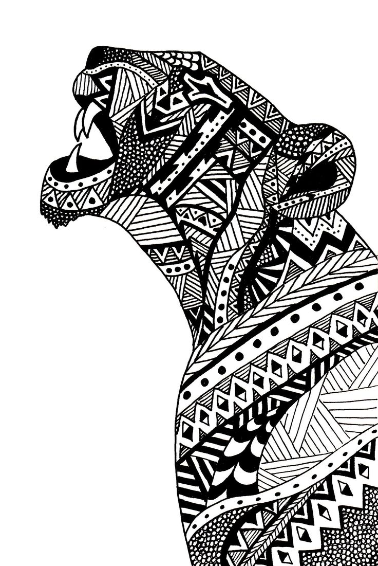 Agathe Altwegg Lioness Illustration Tangle Your Head