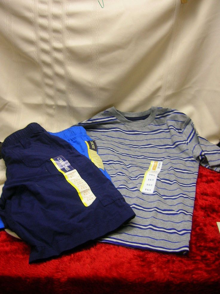 New Cherokee Brand Boy's Shirt and 2 Pairs of Shorts Size 6/7 #Cherokee #Everyday