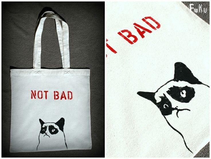"FuKu torba malowana ""Grumpy Cat"" w FUKUU na DaWanda.com"