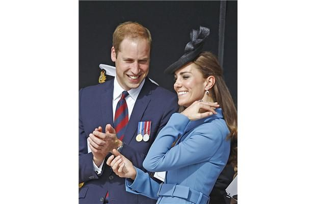 Prince William and Kate attend a remembrance ceremony in Arromanches, Normandy. Remy de la Mauviniere, AFP/Getty Images.