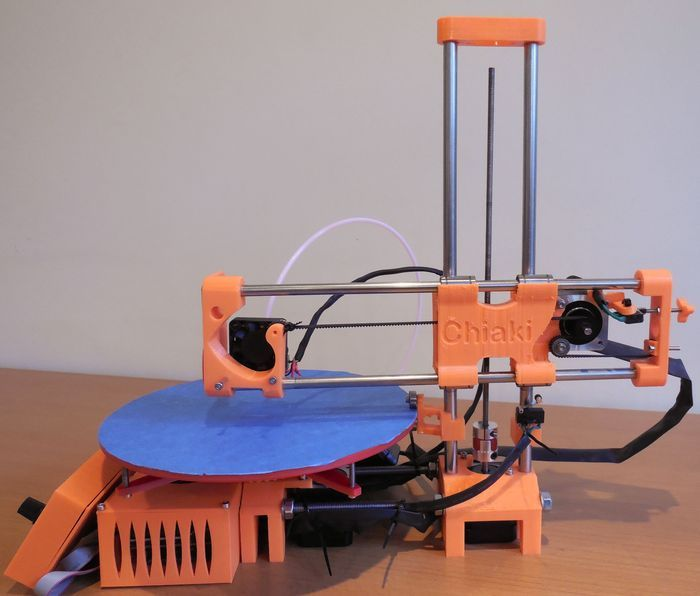 3D printer built with the least amount of parts, improving reliability, reducing price. Our unique rotating bed is revolutionary!  This is our 3D printer, R-360!