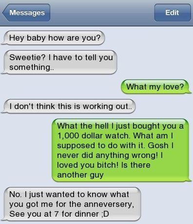 haahahah good idea to find out what he bought !!