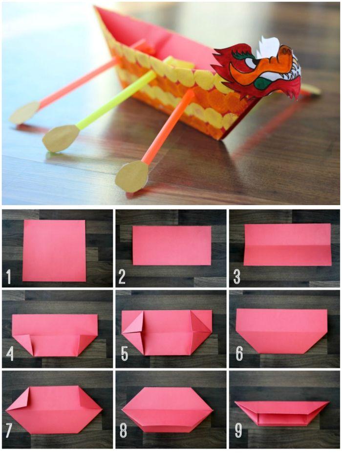 1001 Modeles D Origami Faciles Pour Apprendre Comment Faire Un Bateau En Papier Bateau Papier Origami Facile Origami