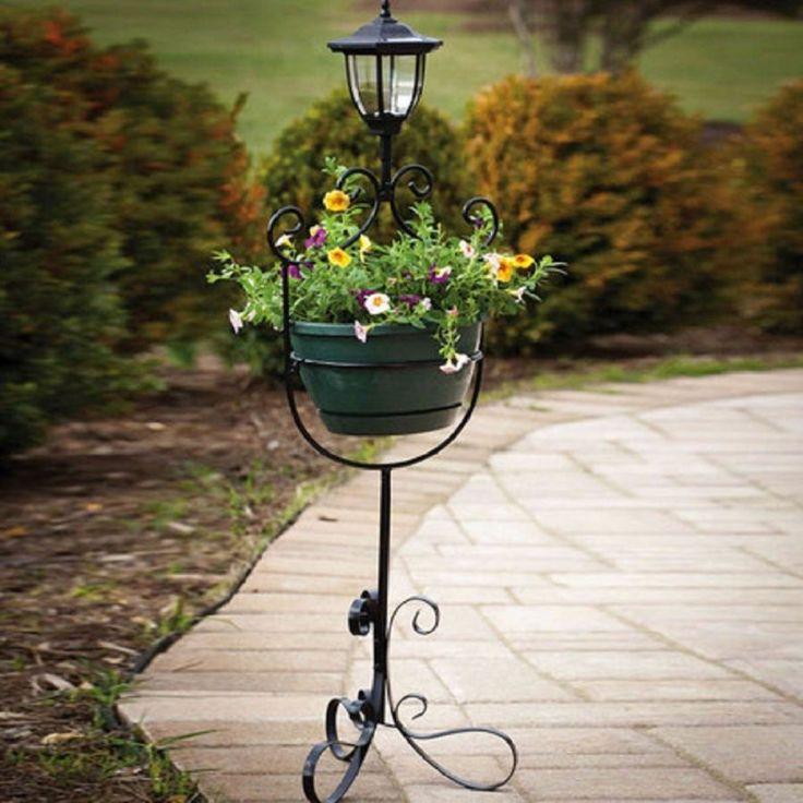 Garden Planter Decor Solar Lantern Lighting Outdoor Patio Decorative Yard New #Unbranded