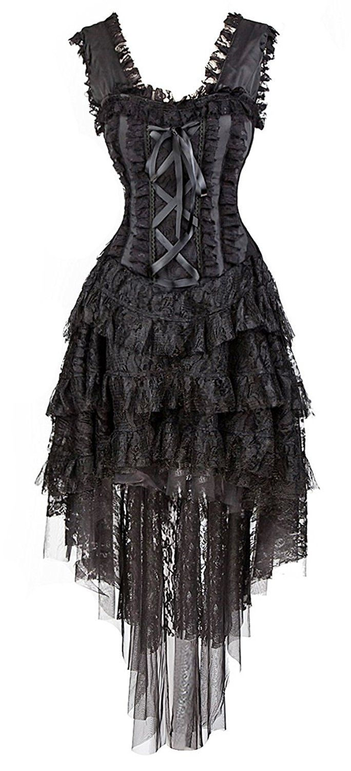 AmazonSmile: Kimring Women's Vintage Showgirl Victorian Steampunk Corset Dress Dancer Costume: Clothing