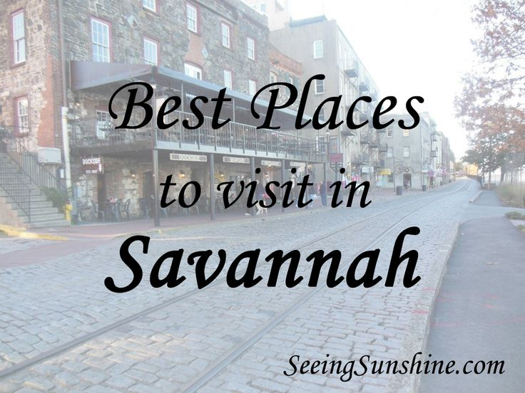 Things to do in Savannah, Georgia + great restaurants in the area!