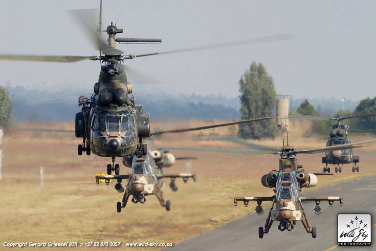 South African Air Force Oryx and Rooivalk