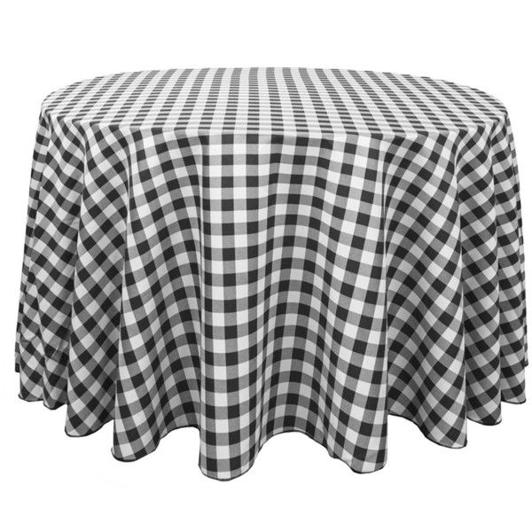 High Quality Round Polyester Tablecloth Black White Checkered ❤ Liked On Polyvore  Featuring Home, Part 8