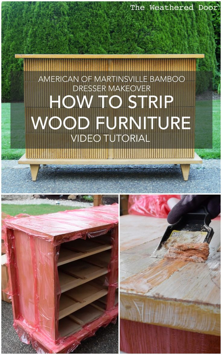 How To Strip Painted Or Stained Wood Furniture Diy Video Tutorial Antiques Dresser Makeovers