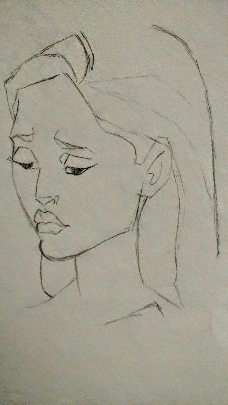 Pocohanas - Free Hand Sketch  By: Anima Armah