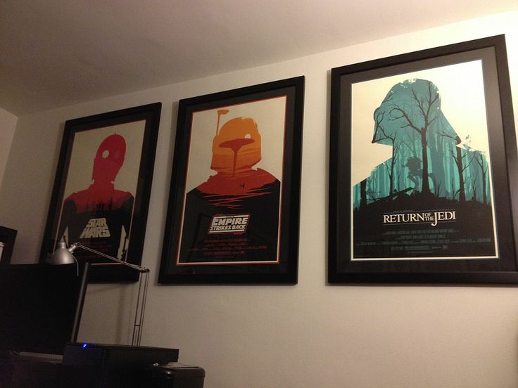 The Star Wars trilogy posters