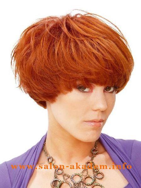 """Вернуться в раздел """"стрижка Шапочка"""" Стрижка женская шапочка на короткие волосы"""