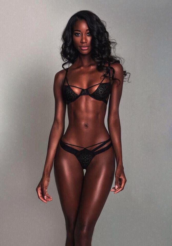 Young sexy black girl