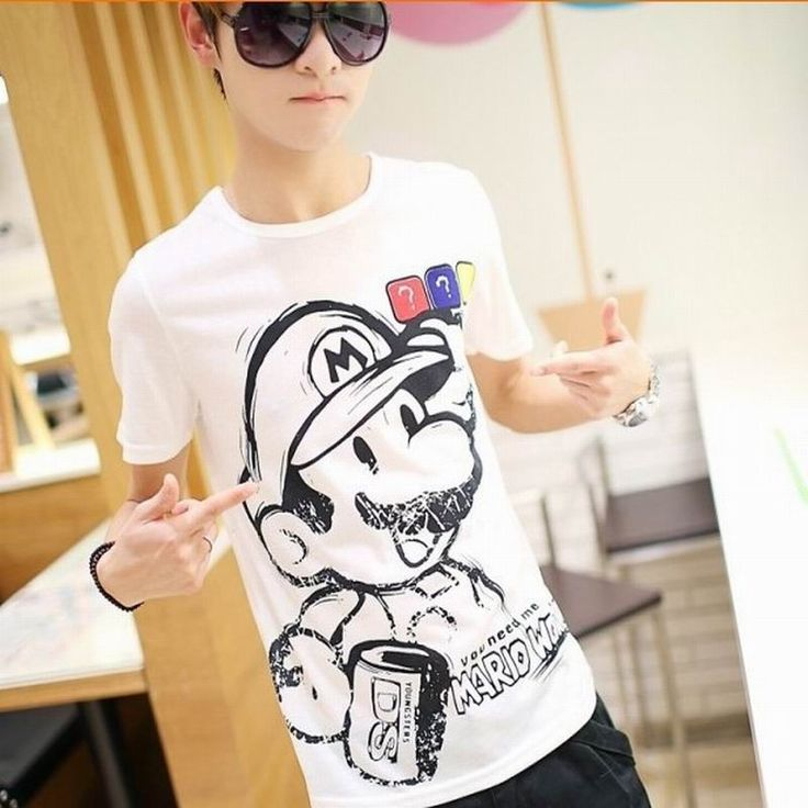 Men's Tops Tees  New Casual Men's Stylish Slim Short Sleeve Shirts Fit Checked T-Shirts Tee high quality