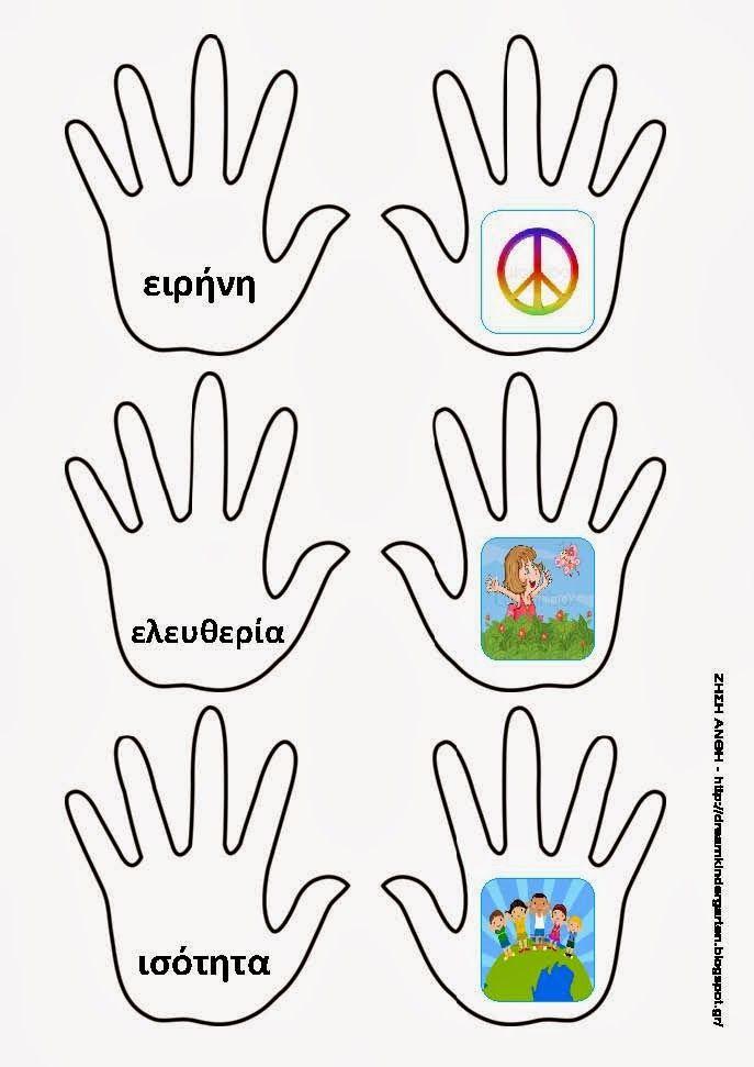 Το νέο νηπιαγωγείο που ονειρεύομαι : Καρτούλες ταύτισης με τα δικαιώματα των παιδιών