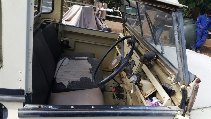 The chicken laid eggs inside this land rover hence the name Hoender (chicken)