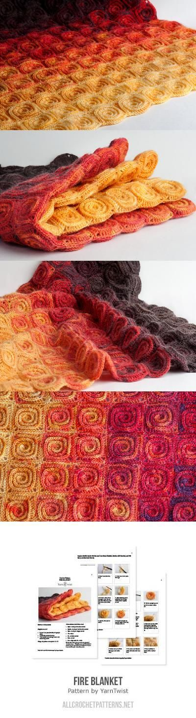 Fire Blanket Crochet Pattern